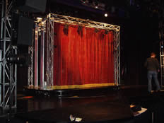 theatre curtain fading